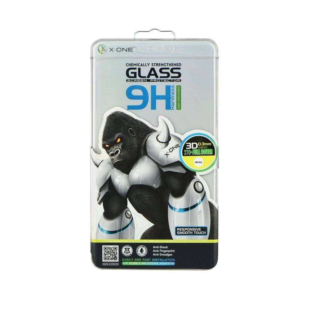 Ochranné tvdené sklo 3D LCD X-ONE 9H Samsung Galaxy S7 EDGE zaoblene - strieborné