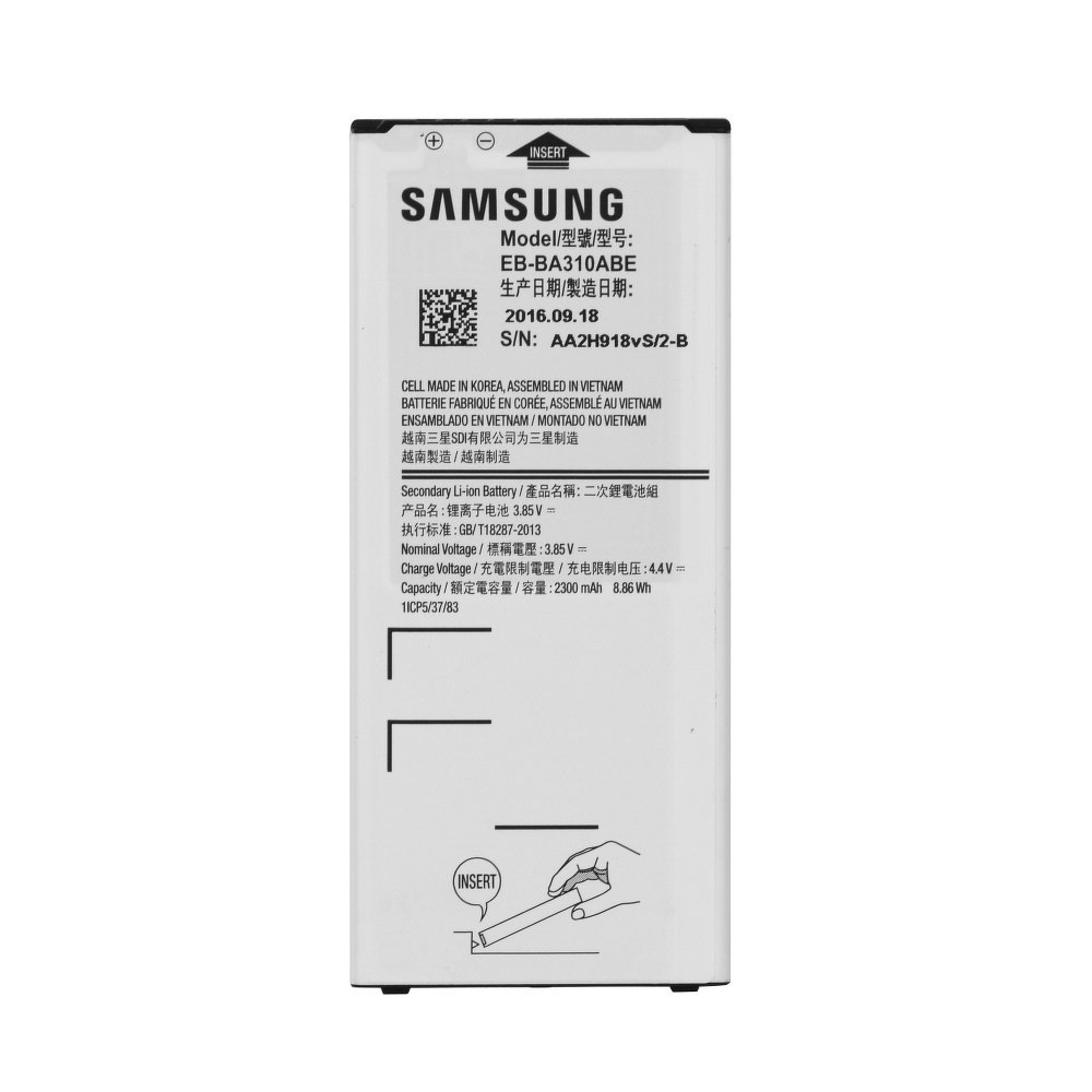 Original Batéria Samsung Galaxy A3 (2016) EB-BA310ABE 2300mAh bulk