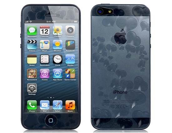 3D Hearts Screen protector na iPhone 5/5S/SE