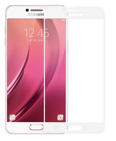 Full glue 3D tvrdené ochranné sklo pre Samsung Galaxy J3 2017 - biele