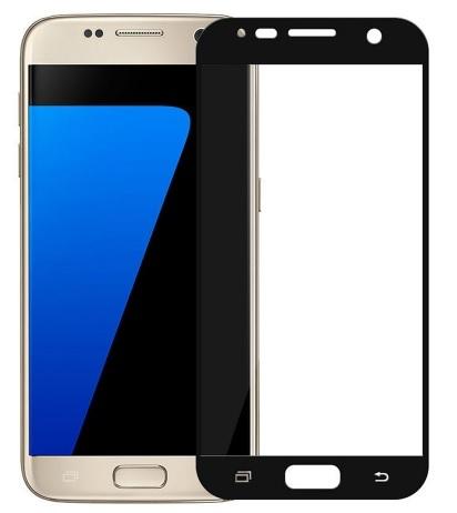 Full glue 3D tvrdené ochranné sklo pre Samsung Galaxy J7 2017 - čierne