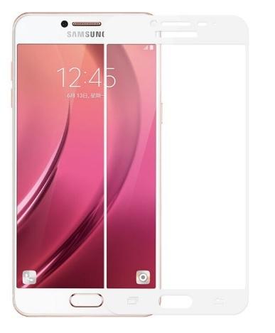 Full glue 3D tvrdené ochranné sklo pre Samsung Galaxy J7 2017 - biele