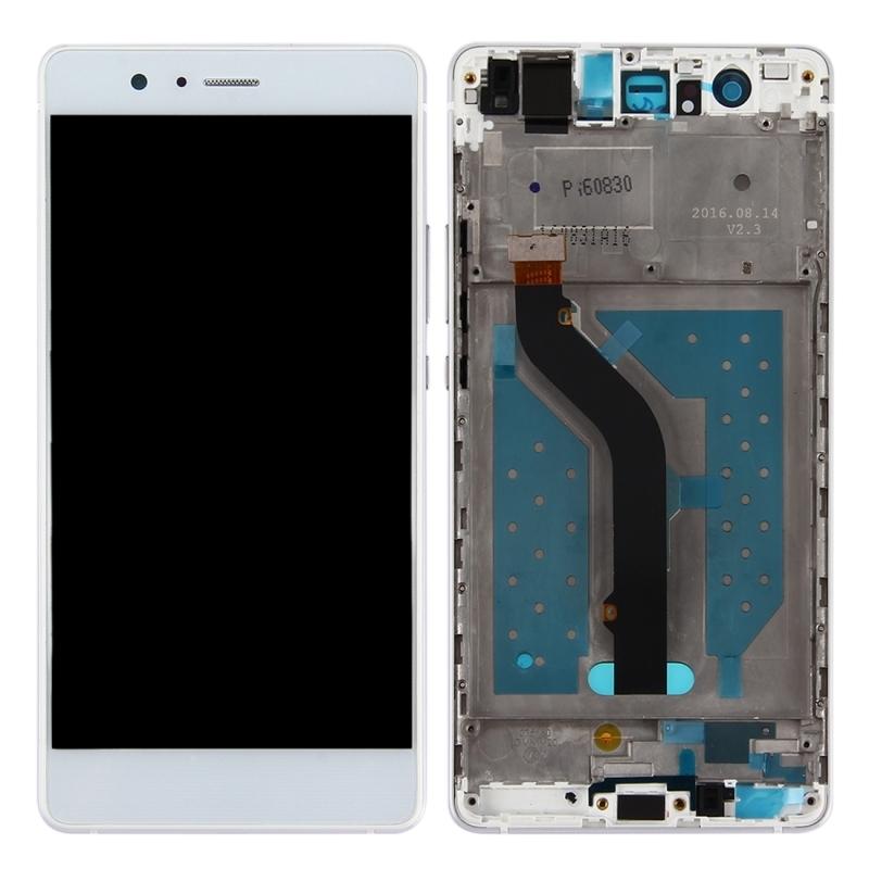 LCD displej + dotyková plocha pre Huawei P9 Lite s rámom, White
