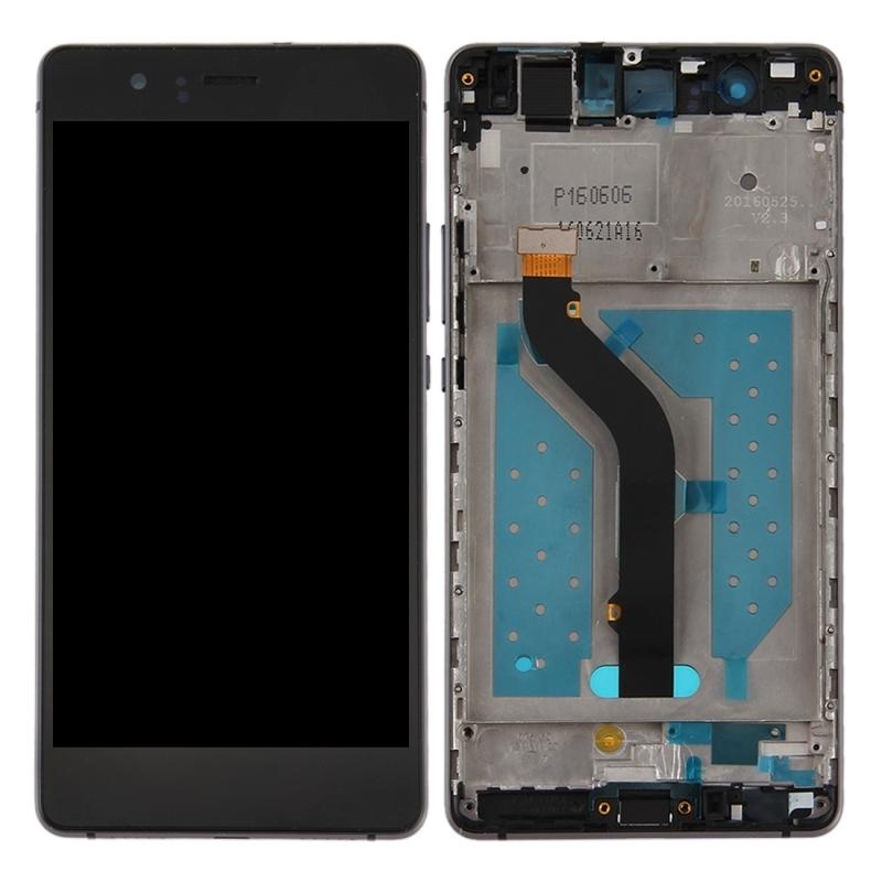 LCD displej + dotyková plocha pre Huawei P9 Lite s rámom, Black