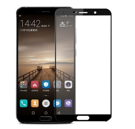 FULL GLUE 3D tvrdené ochranné sklo pre Huawei P9 Lite Mini - čierne