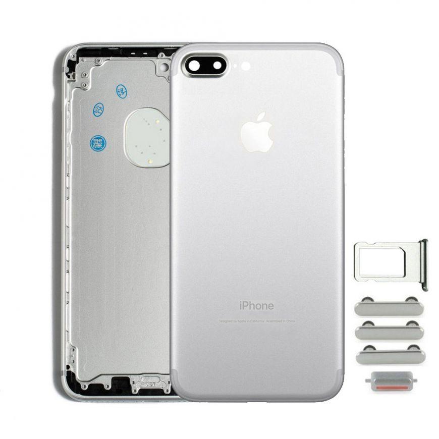 Apple Zadný kryt iPhone 7 Plus biely/strieborný