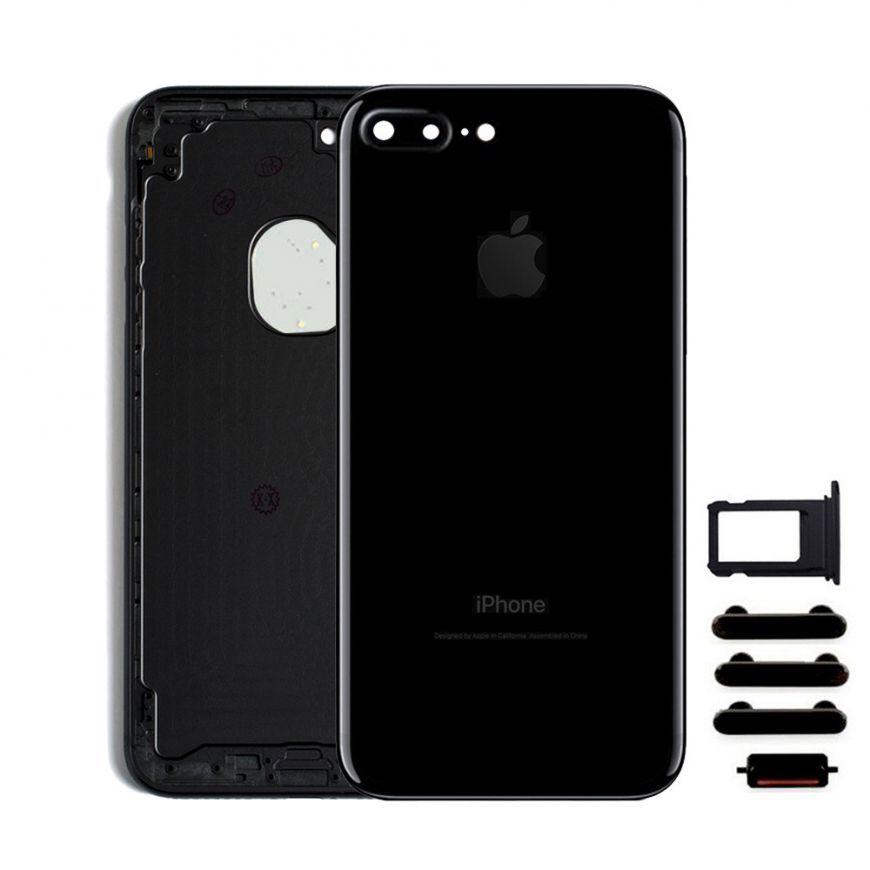 Apple Zadný kryt iPhone 7 Plus čierny/ Jet Black