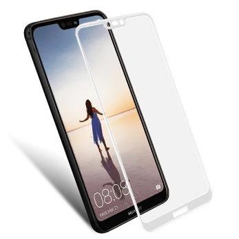 FULL GLUE 3D tvrdené ochranné sklo pre Huawei P20 Lite - biele