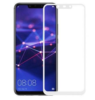 FULL GLUE 3D tvrdené ochranné sklo pre Huawei Mate 20 Lite - biele
