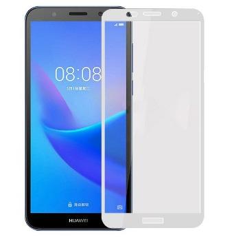 FULL GLUE 3D tvrdené ochranné sklo pre Huawei Y6 2018 - biele