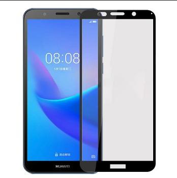 FULL GLUE 3D tvrdené ochranné sklo pre Huawei Y6 2018 - čierne