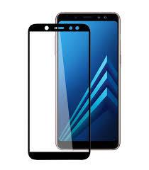 FULL GLUE 3D tvrdené ochranné sklo pre Samsung Galaxy A8 2018 - čierne