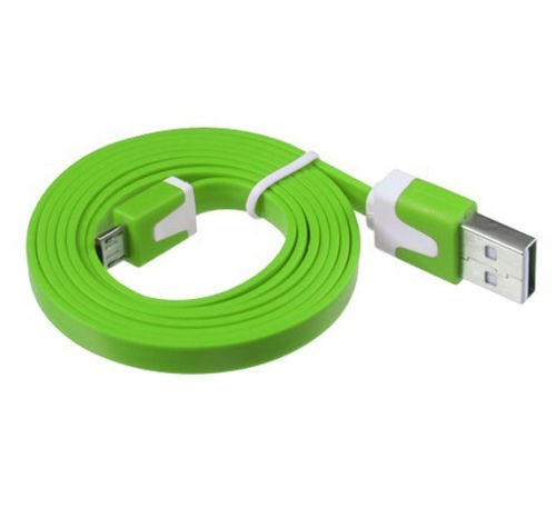 Micro USB kábel Samsung, HTC, Sony, Nokia, LG color green