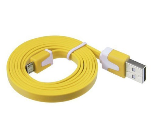 Micro USB kábel Samsung, HTC, Sony, Nokia, LG color yellow