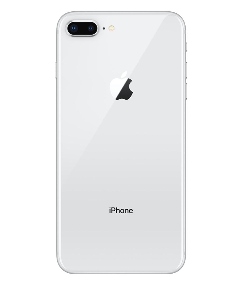 Apple iPhone 8 Plus - Zadné sklo housingu iPhone 8 Plus + sklíčko zadnej kamery - biele