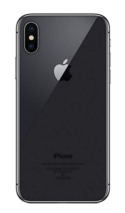 Apple iPhone X - Zadné sklo housingu + sklíčko zadnej kamery - čierne