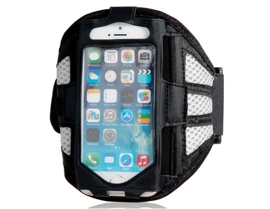 Armband - držiak telefónu na ruku iPhone 5/5S/5C/SE grey
