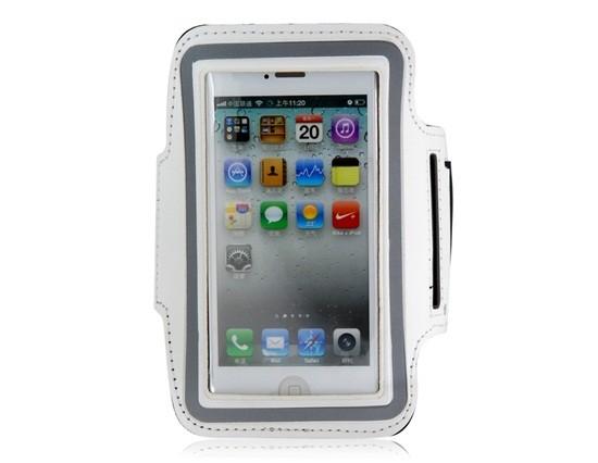 Armband - držiak telefónu na ruku iPhone 5/5S/5C/SE white