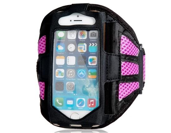 Armband - držiak telefónu na ruku iPhone 5/5S/5C/SE purple