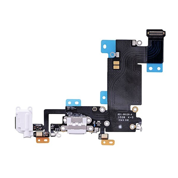 Apple iPhone 6S Plus - Nabíjací dock konektor - audio konektor kábel s mikrofónom - biely