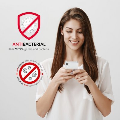 Forcell AntiBacterial kryt pre iPhone 6/6S transparentný