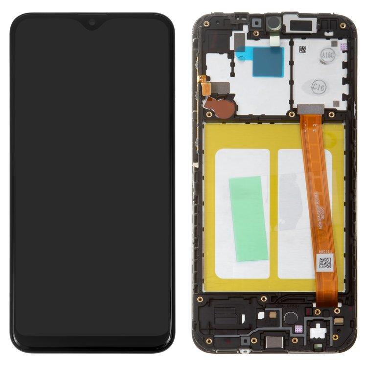 LCD Displej + Dotykové sklo Samsung Galaxy A20e - originál s rámom