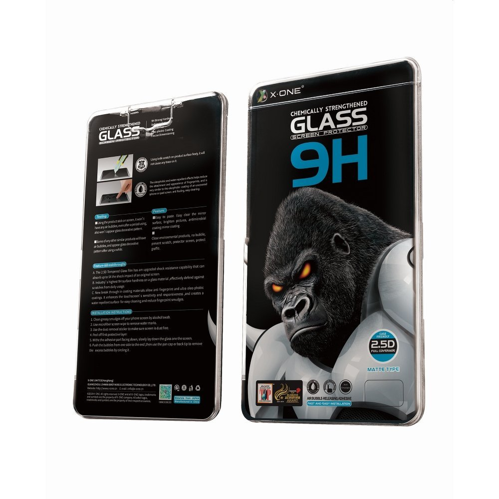 X-ONE Full Cover Extra Strong Matte - 3D matné ochranné tvrdené sklo pre iPhone 12 mini