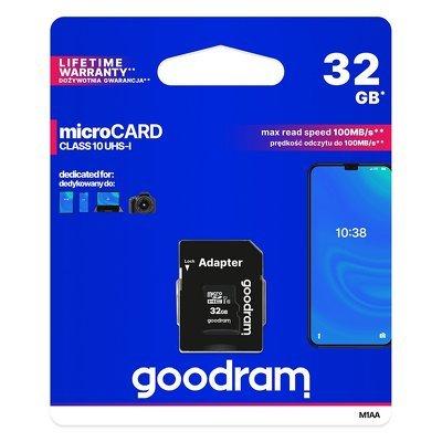 GOODRAM pamäťová karta - microSD SD 32GB CLASS 10 UHS I 100MB/s + adaptér