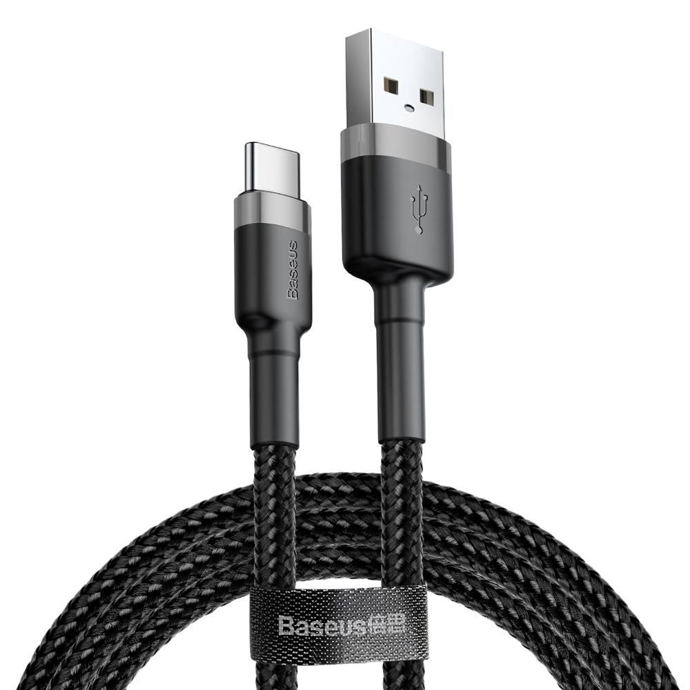 Baseus Nylon USB / USB-C QC3.0 3A 1M (CATKLF-BG1)