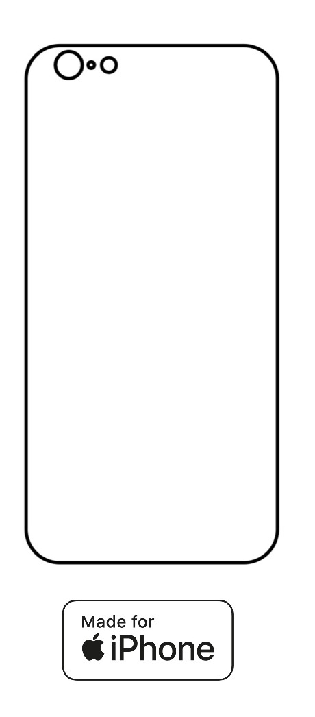 Hydrogel - zadná ochranná fólia - iPhone 6/6S - typ 1