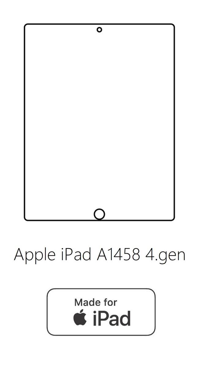 Hydrogel - ochranná fólia - Apple iPad A1458 4.gen