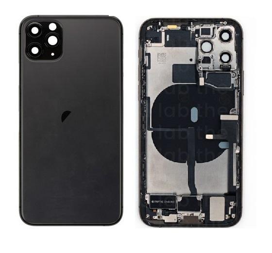 Apple iPhone 11 Pro Max - Zadný Housing (Space Grey) s malými predinštalovanými dielmi