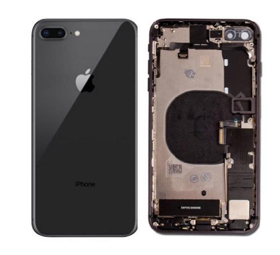 Apple iPhone 8 Plus - Zadný kryt - housing iPhone 8 Plus - čierny s malými dielmi