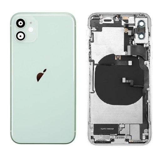 Apple iPhone 11 - Zadný Housing - green s predinštalovanými dielmi
