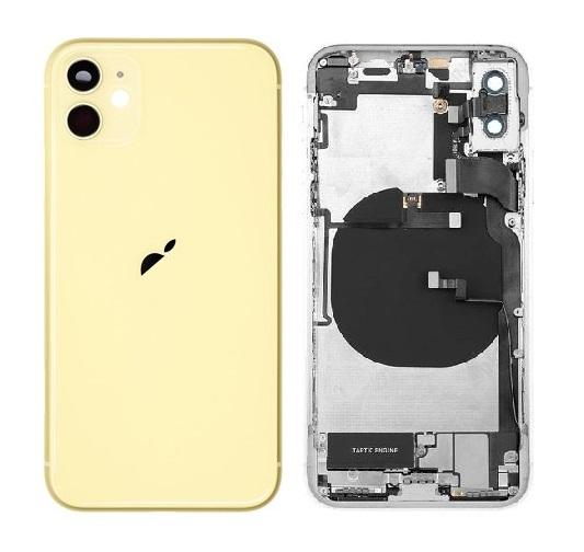 Apple iPhone 11 - Zadný Housing - yellow s predinštalovanými dielmi
