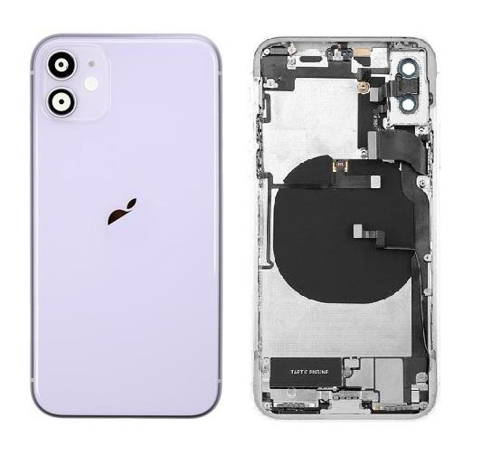 Apple iPhone 11 - Zadný Housing- purple s predinštalovanými dielmi