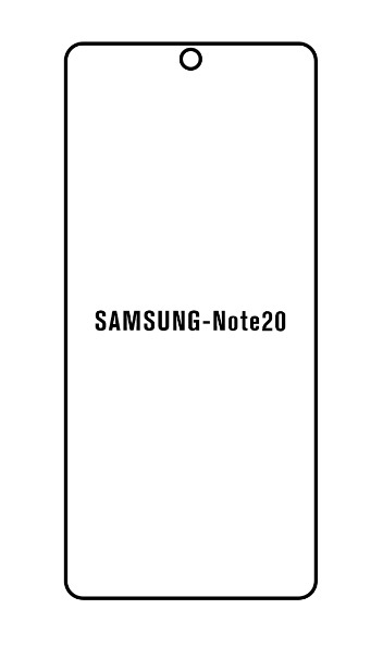 Hydrogel - ochranná fólia - Samsung Galaxy Note 20, typ 2