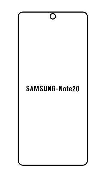 Hydrogel - matná ochranná fólia - Samsung Galaxy Note 20, typ 2