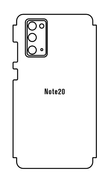 Hydrogel - zadná ochranná fólia (full cover) - Samsung Galaxy Note 20, typ 2