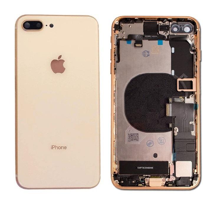 Apple iPhone 8 Plus - Zadný kryt - housing iPhone 8 Plus - zlatý s malými dielmi