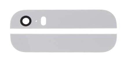 Apple iPhone 5S/SE - Biele zadné sklo housingu
