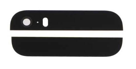 Apple iPhone 5S/SE - Čierne zadné sklo housingu