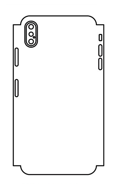 Hydrogel - zadná ochranná fólia (full cover) - iPhone XS Max - typ 5