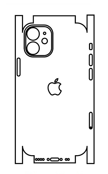 Hydrogel - matná zadná ochranná fólia (full cover) - iPhone 12 mini - typ 5