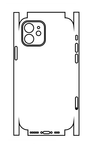 Hydrogel - matná zadná ochranná fólia (full cover) - iPhone 12 - typ 5