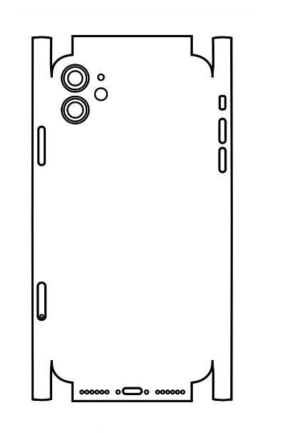 Hydrogel - matná zadná ochranná fólia (full cover) - iPhone 11 - typ 5