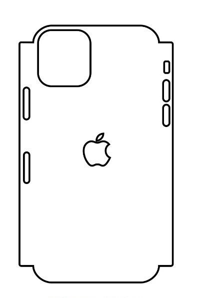 Hydrogel - matná zadná ochranná fólia (full cover) - iPhone 11 Pro - typ 5