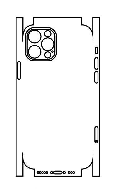 Hydrogel - matná zadná ochranná fólia (full cover) - iPhone 12 Pro - typ 5