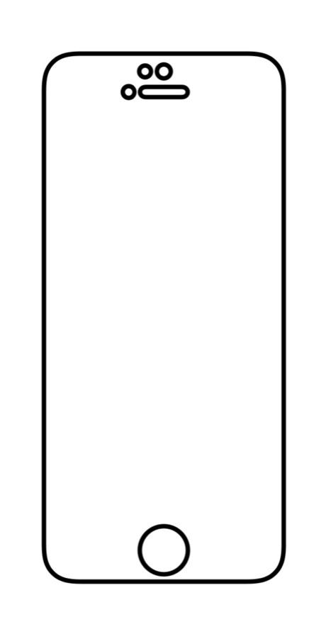 Hydrogel - matná ochranná fólia - iPhone 5/5C/5S/SE