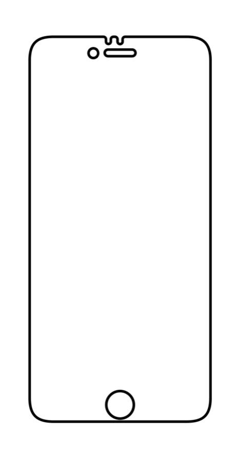 Hydrogel - matná ochranná fólia - iPhone 6 Plus/6S Plus